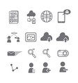 Social media icons eps vector image