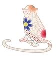 Vintage monkey vector image