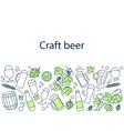 Craft beer banner vector image