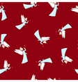 Seamless Winter Pattern Christmas Angel vector image vector image
