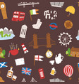 united kingdom great britain travel tourism vector image