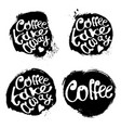 collection of coffee hand draw logo vector image