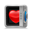 Heart in safe vector image vector image