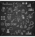 Business doodles vector image