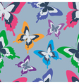 Seamless pattern with colorful butterfly vector image
