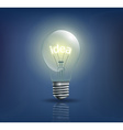 incandescent light bulb with the word idea instead vector image