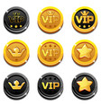 cartoon vip and crown coins vector image