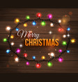 Colorful christmas light bulbs for celebratory vector image
