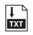 download text icon on white background download vector image