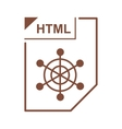 HTML file icon cartoon style vector image