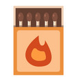 matchbox icon flat style vector image