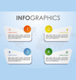 modern colorful infographics with square vector image