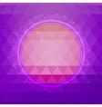Round design element on a triangular background vector image