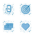 set of flat bold line icons vector image