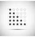 Siple of five rating stars vector image