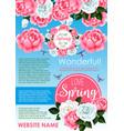 springtime holidays floral greeting poster design vector image