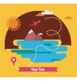 summer holidays travel around the world vector image