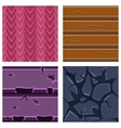 Textures for Platformers Icons Set of Stone vector image
