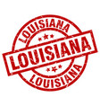 louisiana red round grunge stamp vector image