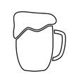 cup beer black color icon vector image
