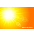 Sun background vector image