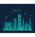 Beirut skyline trendy linear vector image vector image