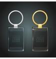 glass rectangular keychain vector image