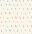 Baby patternOrangeturquoise beige colors vector image