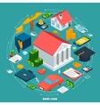 Bank Loan Isometric Concept vector image