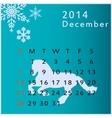 calendar 2014 december vector image
