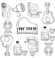 Doodle of object music vector image