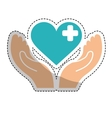 Heart cross icon vector image