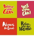 Lifestyle Quotes cards set vector image