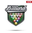 Premium symbol of Billiard label vector image