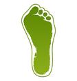Old man green foot print vector image