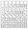 Domino set vector image