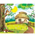 country cottage vector image