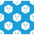Flying bird hexagon pattern vector image