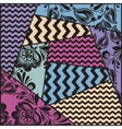 color seamless patchwork pattern vector image