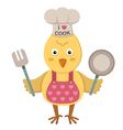 chicken cooking vector image