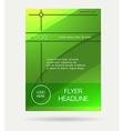 green flyer brochure vector image