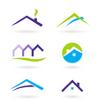 Real estate logo and icons vector image