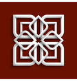 White 3d ornament in arabic style vector image