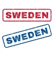 Sweden Rubber Stamps vector image