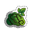 brain human with tree creative icon vector image