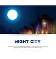 Night urban city background vector image vector image