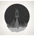 Space rocket flies into space vector image