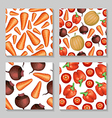 vegetables pattern set vector image vector image
