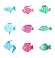 Fantastic Fish Set vector image