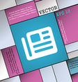book newspaper icon sign Modern flat style for vector image